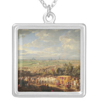 Entry of Louis XIV of Austria in Arras Silver Plated Necklace