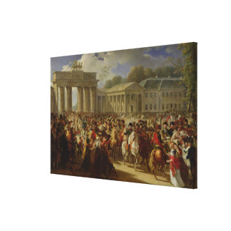 Entry of Napoleon I  into Berlin Canvas Print