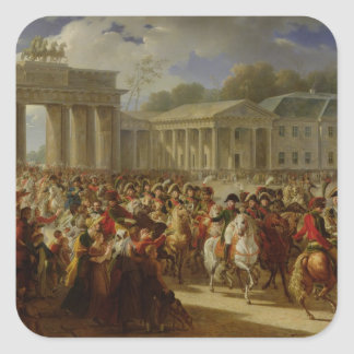 Entry of Napoleon I  into Berlin Square Sticker