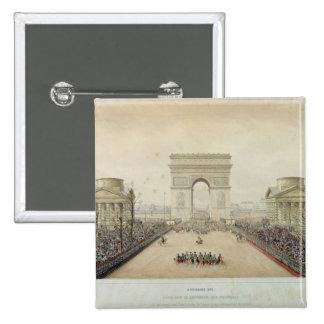 Entry of Napoleon III into Paris 15 Cm Square Badge