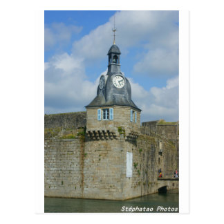 Entry of the closed city of Concarneau BRITTANY Postcard