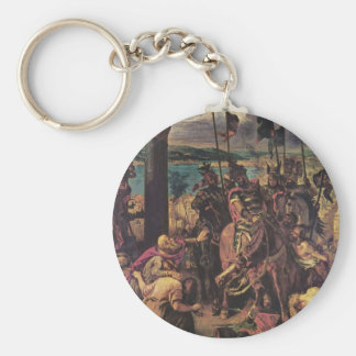 Entry of the Crusaders in Constantinople Basic Round Button Key Ring