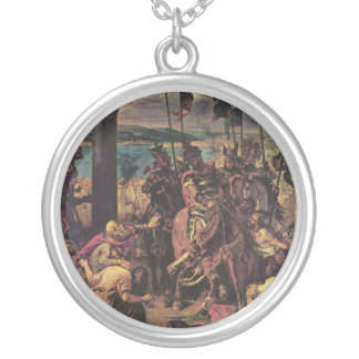 Entry of the Crusaders in Constantinople Round Pendant Necklace