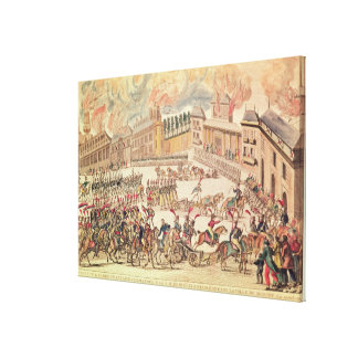 Entry of the French Army Commanded Canvas Print