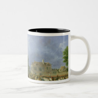 Entry of the Imperial Guard into Paris Two-Tone Coffee Mug