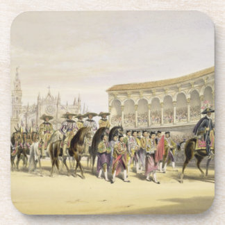 Entry of the Toreros in Procession, 1865 (colour l Coasters