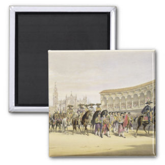Entry of the Toreros in Procession, 1865 (colour l Square Magnet