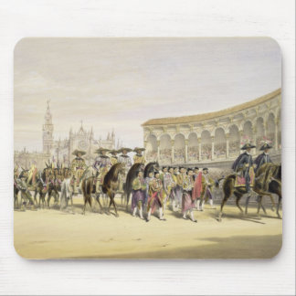 Entry of the Toreros in Procession, 1865 (colour l Mouse Mat