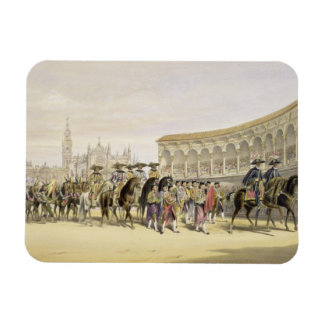 Entry of the Toreros in Procession, 1865 (colour l Rectangular Photo Magnet