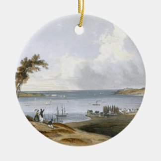 Entry to the Bay of New York taken from Staten Isl Christmas Ornament