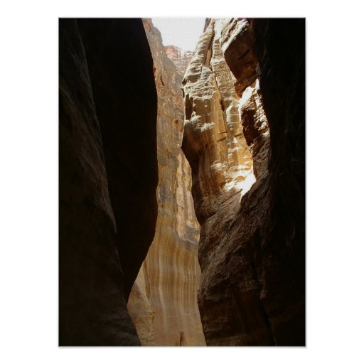 Entryway to Petra Poster