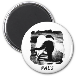 Entwined Cats - Black and White - PALS 6 Cm Round Magnet
