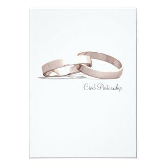 Entwined Gold Rings BL- Civil Partnership Invite
