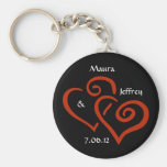 Entwined Hearts Keychain with Customisable Text