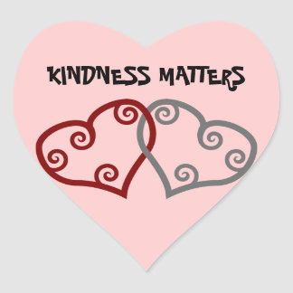 Entwined Hearts Kindness Matters Heart Sticker