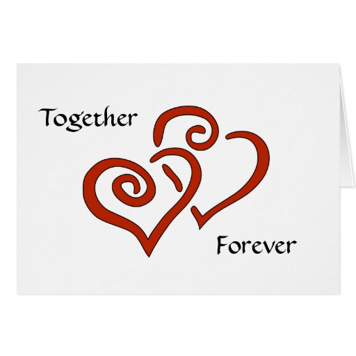 Entwined Hearts Together Forever Valentine's Card