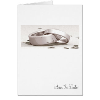Entwined Rings BLK - Save the Date Card