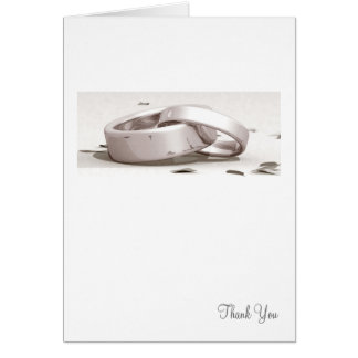 Entwined Rings BLK - Thank You Card