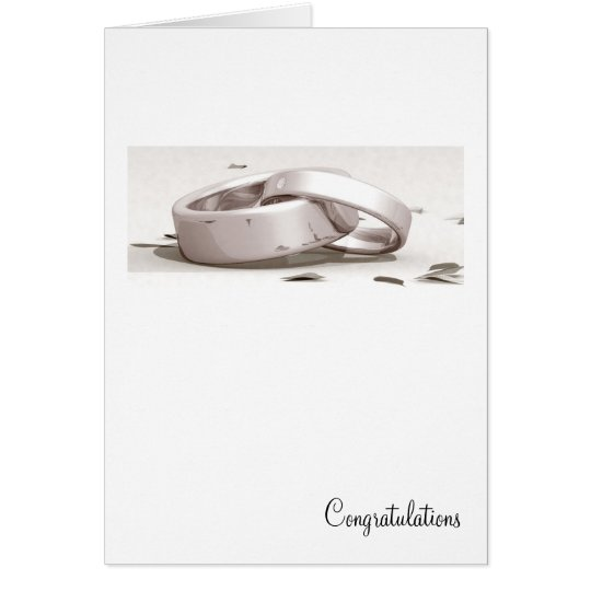Entwined Rings - Congratulations cards