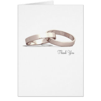 Entwined Rings Gold BLK - Thank You Card
