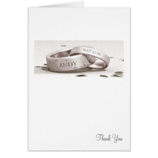 Entwined Rings - Thank You Card