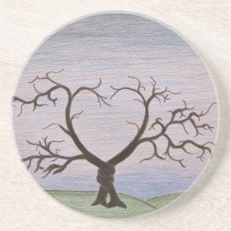 entwined tree print drink coasters
