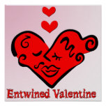Entwined Valentine Poster