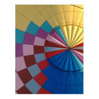 Envelope hot air balloon postcard