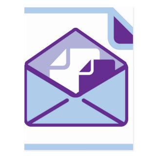 Envelope Icon vector Postcard