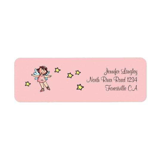 Envelope Mailing Adress Sticker Ballet Girl Return Address Label