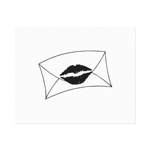 Envelope Sealed with a Kiss Stretched Canvas Prints