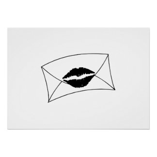 Envelope Sealed with a Kiss Print