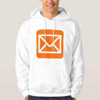 Envelope Sign - Orange Hooded Pullover