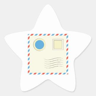 Envelope Star Stickers