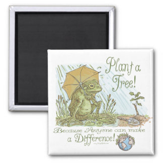 Enviro Frog Plant a Tree  Earth Day Gear Square Magnet