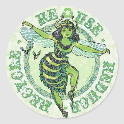 Enviro Green Bee Earth Day Gear Stickers