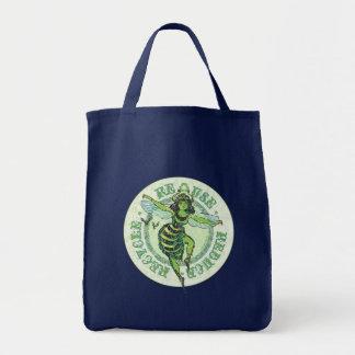 Enviro Green Bee Earth Day Gear Tote Bag