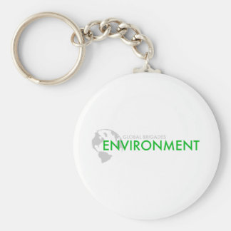 Environment Brigade Basic Round Button Key Ring