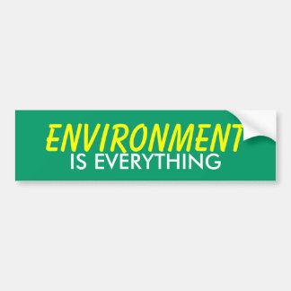 ENVIRONMENT IS EVERYTHING BUMPER STICKER