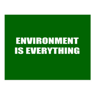 ENVIRONMENT IS EVERYTHING POSTCARD