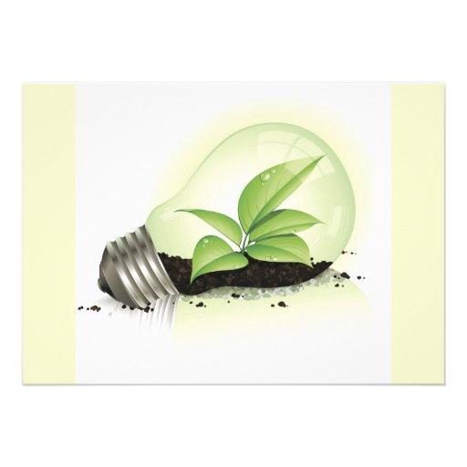 Environment Lightbulb greens plants soil causes en Invites