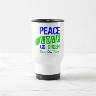Environment Peace Love Go Green v2 Mugs