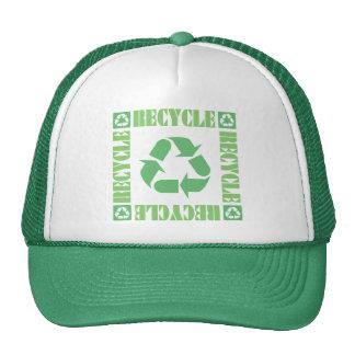 Environment Recycle Green Cap Trucker Hats