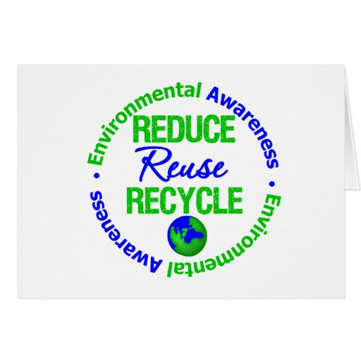 Environment Reduce Reuse Recycle Card