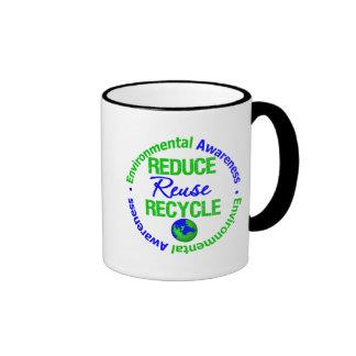 Environment Reduce Reuse Recycle Coffee Mug