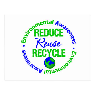 Environment Reduce Reuse Recycle Post Cards