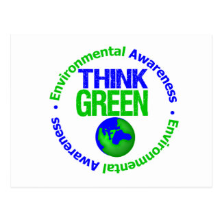 Environment THINK GREEN Save Our Planet Postcard
