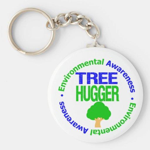 Environment Tree Hugger Key Chain