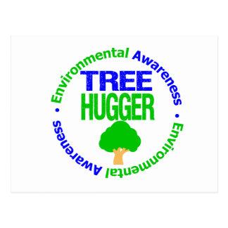 Environment Tree Hugger Postcard