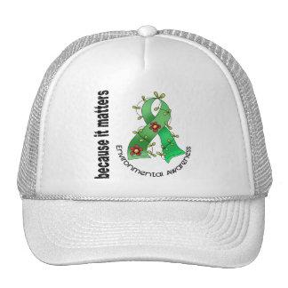 Environmental Awareness Flower Ribbon 3 Trucker Hat